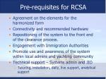 pre requisites for rcsa