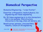 biomedical perspective