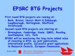 epsrc btg projects