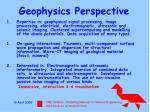 geophysics perspective