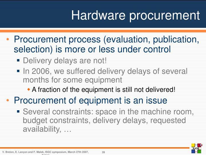 Hardware procurement