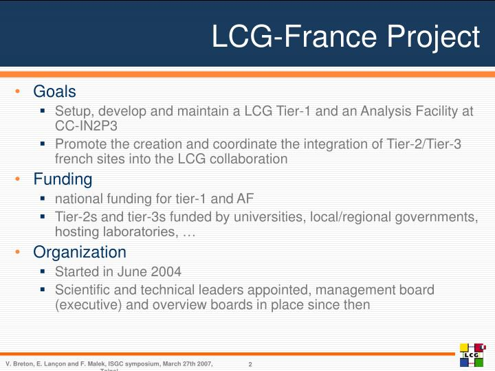 Lcg france project