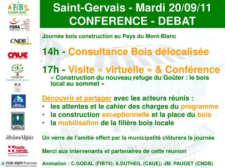 Saint gervais mardi 20 09 11 conference debat