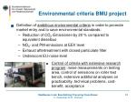 environmental criteria bmu project