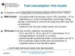 fuel consumption first results