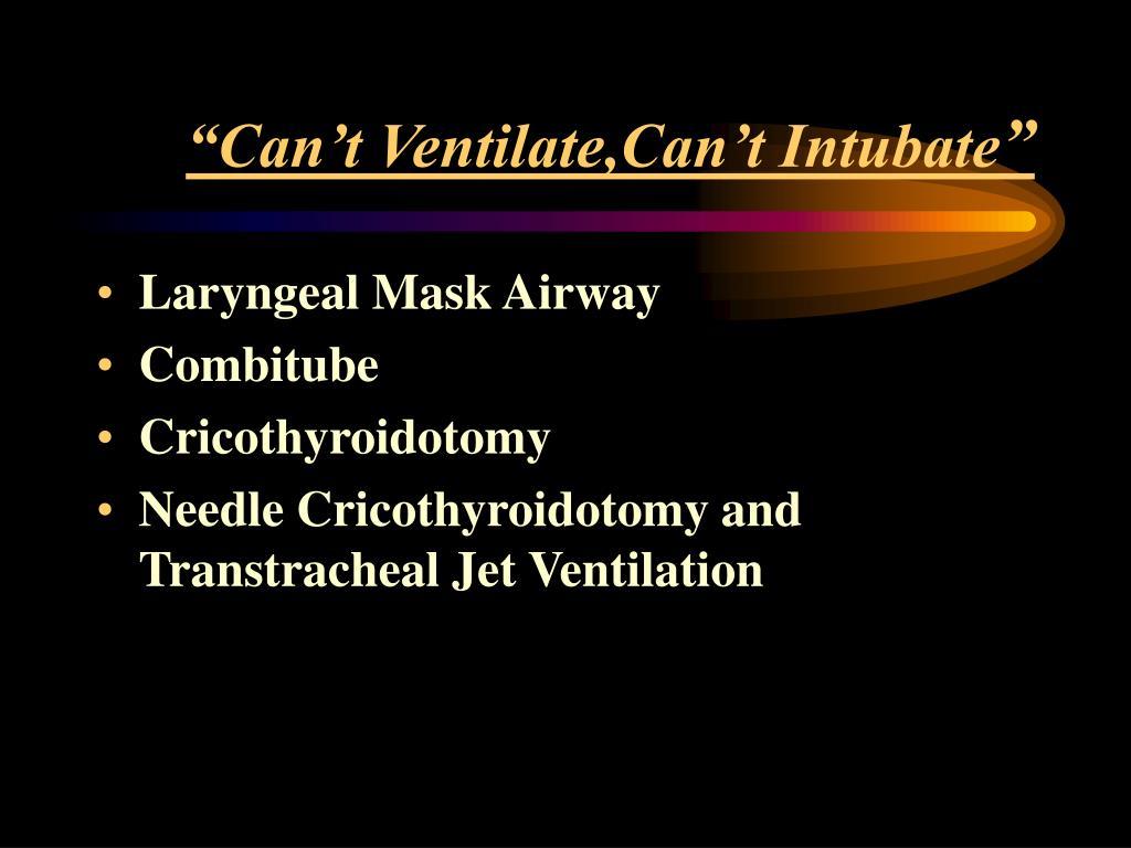 PPT - Basic Airway Management: Bag-Mask Ventilation
