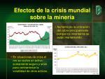 efectos de la crisis mundial sobre la miner a1
