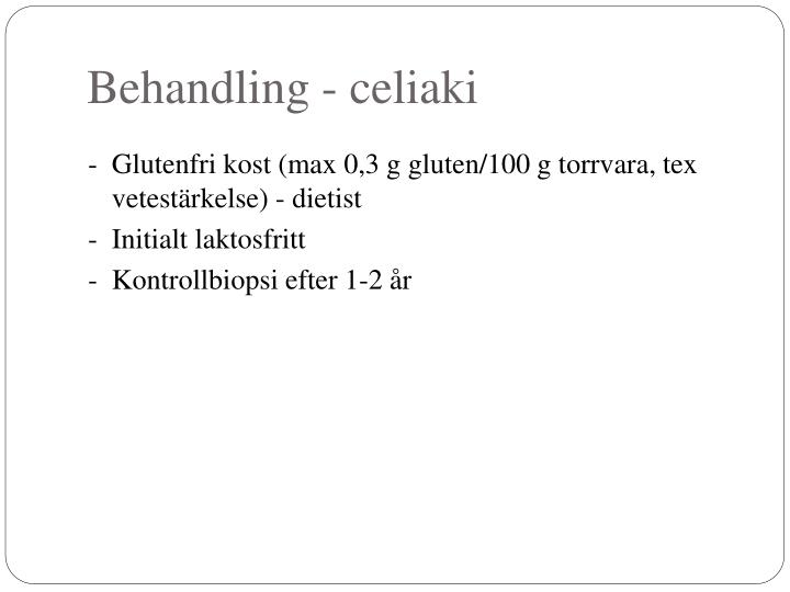 Behandling - celiaki