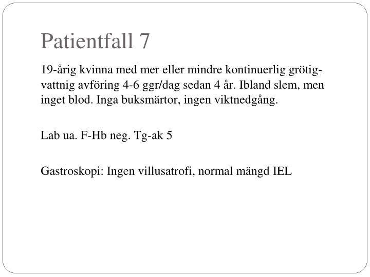 Patientfall 7