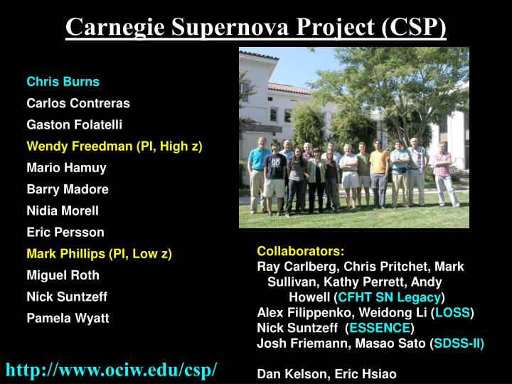 Carnegie Supernova Project (CSP)