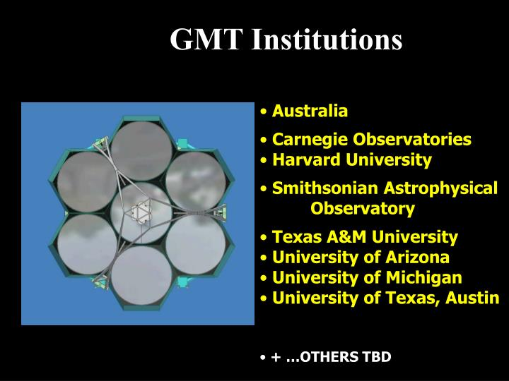 GMT Institutions