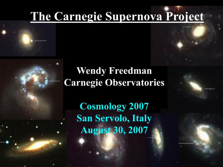 The carnegie supernova project