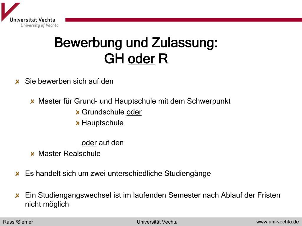 Ppt Der Ubergang In Den Master Of Education 14