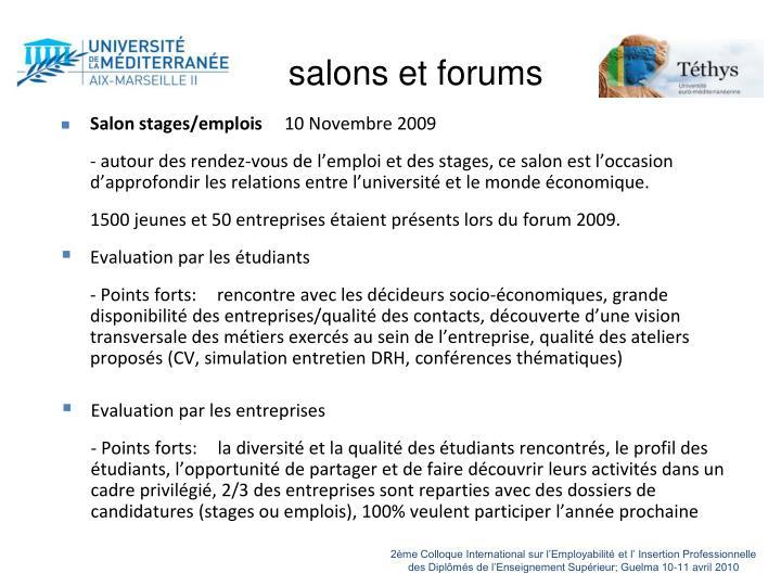 salons et forums
