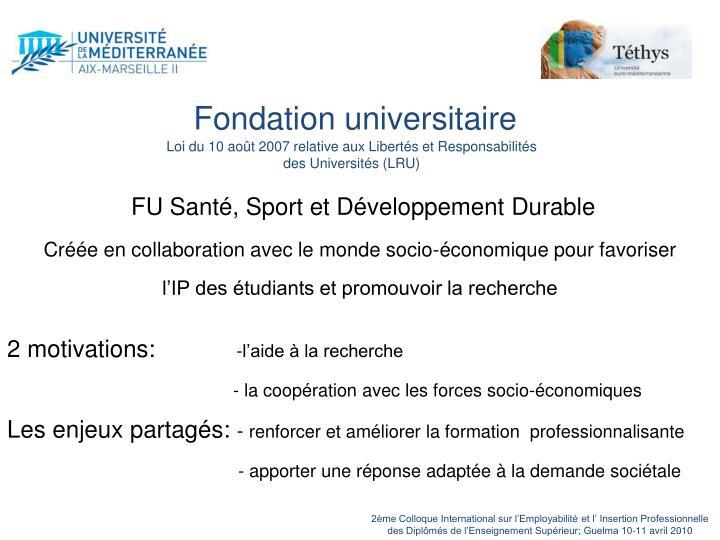 Fondation universitaire
