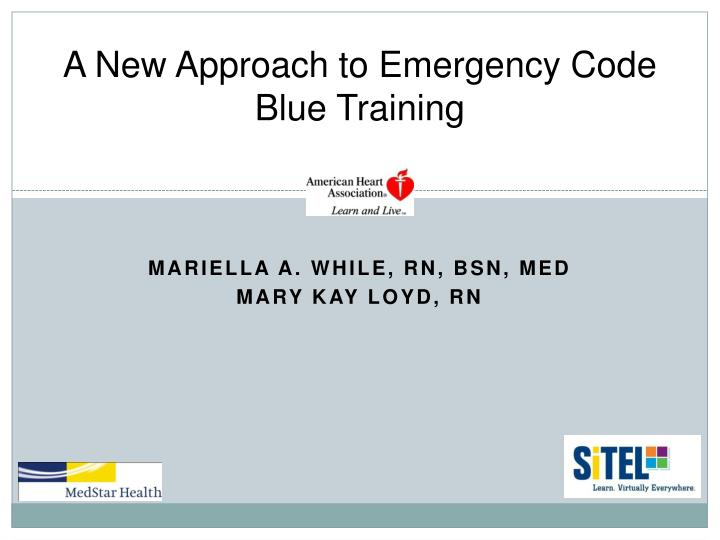 a new approach to emergency code blue training n.