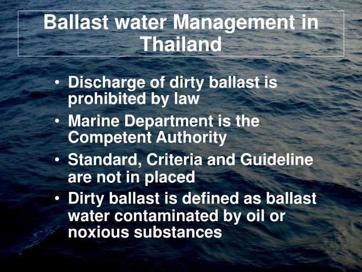 Ballast water management in thailand
