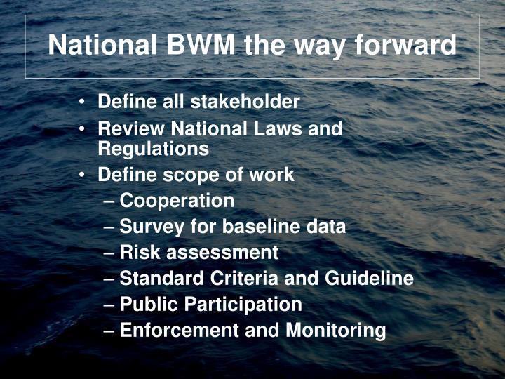 National BWM the way forward