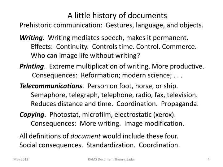 A little history of documents