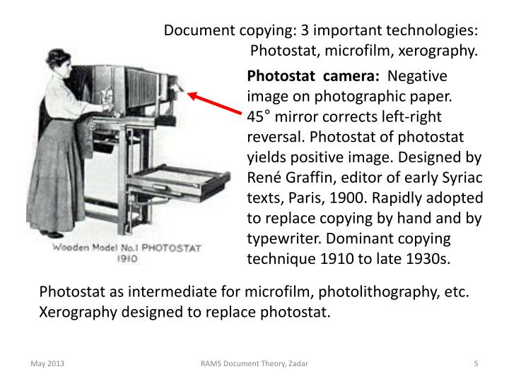 Document copying: 3 important technologies: