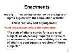 enactments
