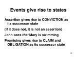 events give rise to states