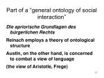 part of a general ontology of social interaction