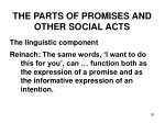 the parts of promises and other social acts