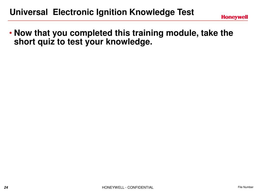 PPT - S8910U1000 Universal Electronic Ignition Modules Training