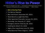 hitler s rise to power