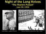 night of the long knives the roehm putsch june 30 1934