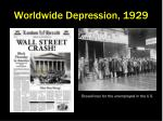 worldwide depression 1929