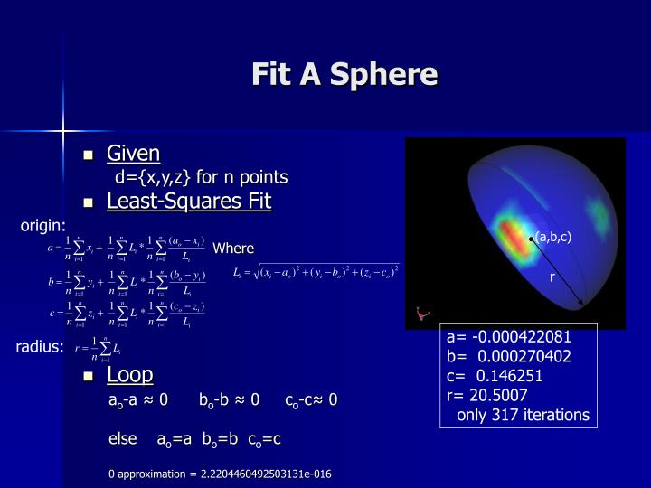 Fit A Sphere
