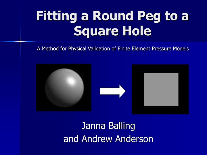 Fitting a round peg to a square hole