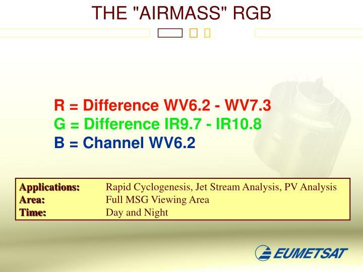 "THE ""AIRMASS"" RGB"