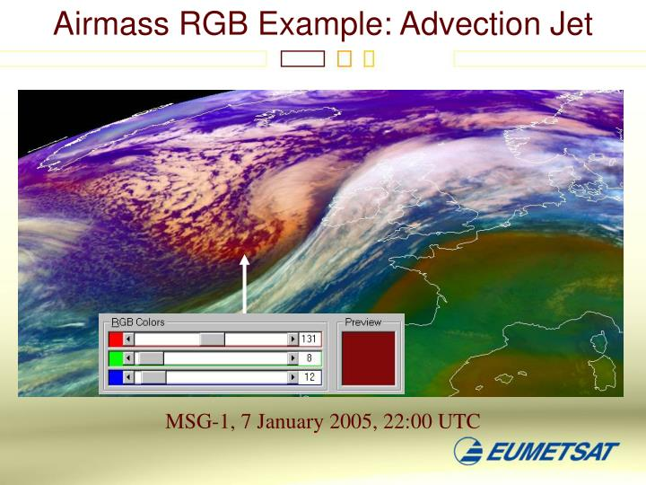 Airmass RGB Example: Advection Jet