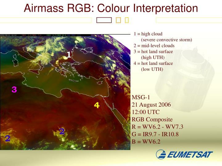 Airmass RGB: Colour Interpretation