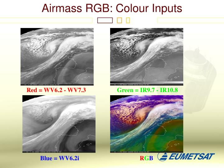 Airmass RGB: Colour Inputs
