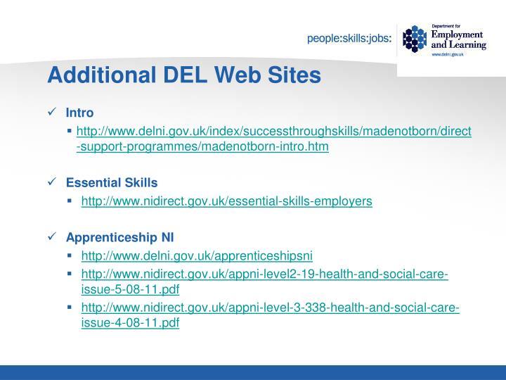 Additional DEL Web Sites