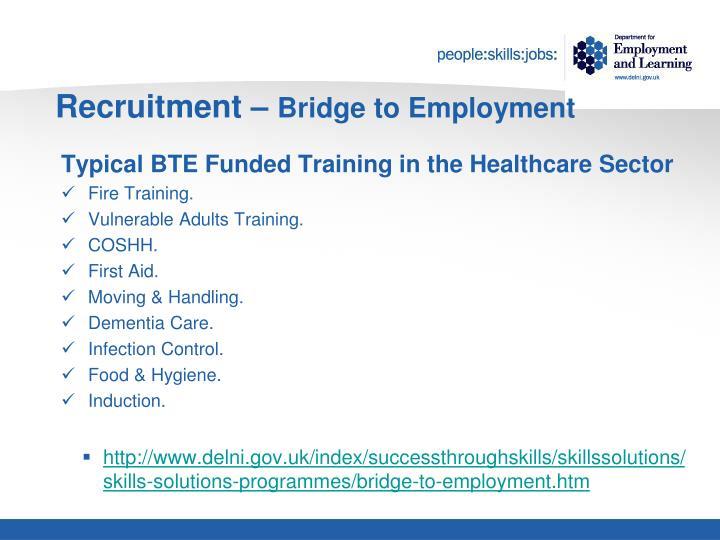 Recruitment –