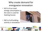 why create demand for energywise renovation