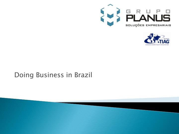 doing business in brazil n.