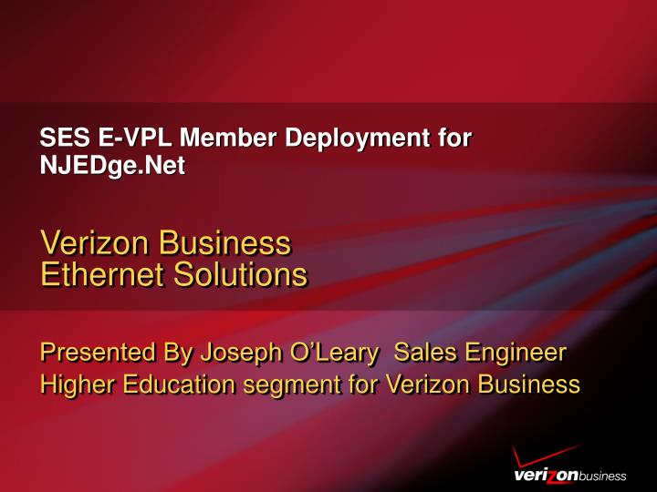 Ses e vpl member deployment for njedge net