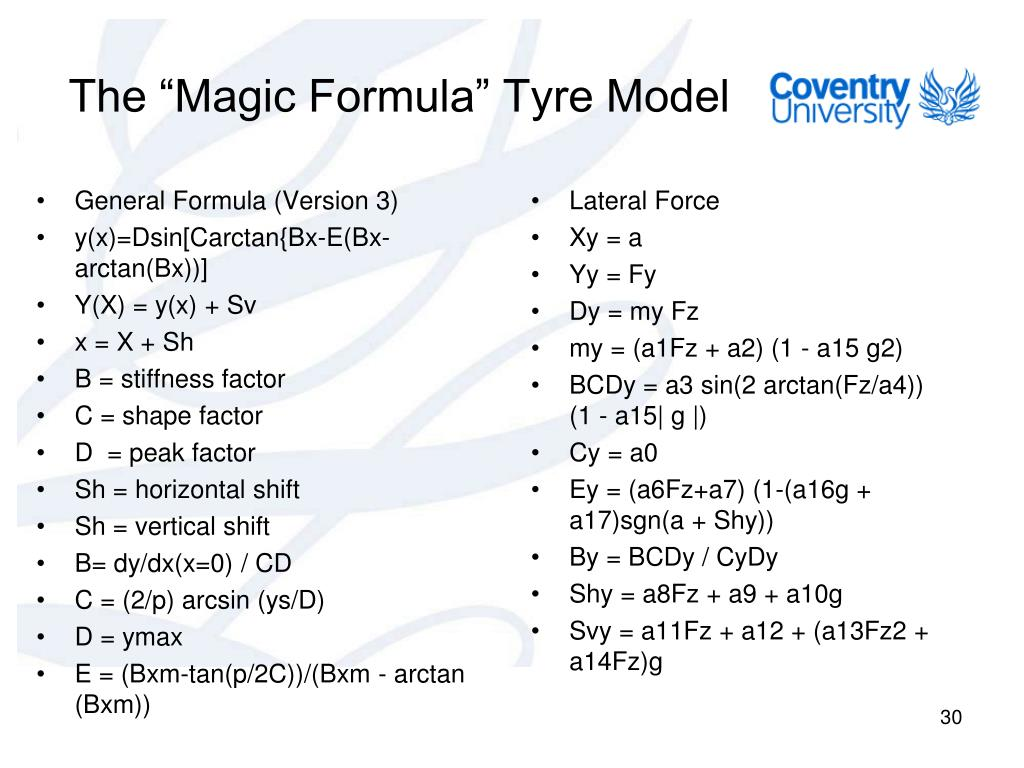 PPT - Lecture 5- Tyre Modelling PowerPoint Presentation - ID