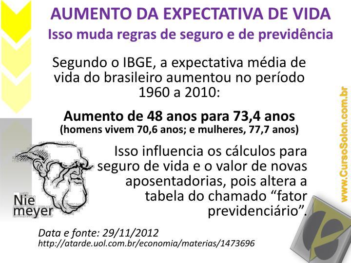 Aumento da expectativa de vida isso muda regras de seguro e de previd ncia