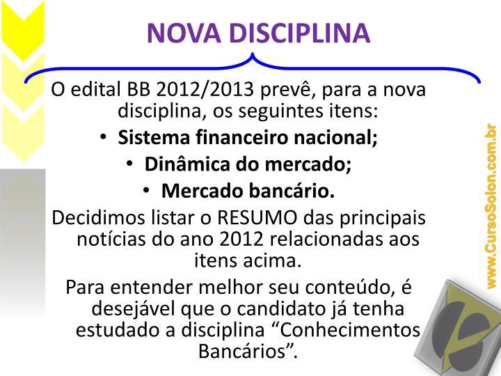 Nova disciplina