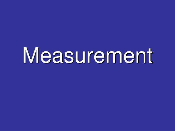 measurement n.