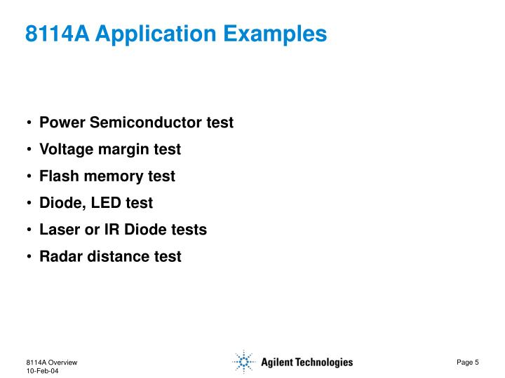 8114A Application Examples