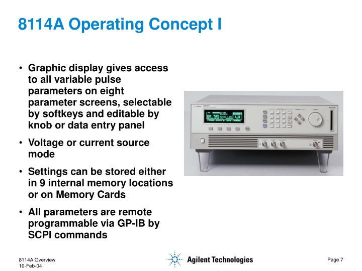 8114A Operating Concept I
