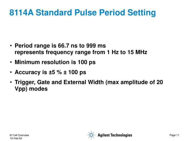 8114A Standard Pulse Period Setting